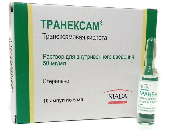 Транексам применяют для остановки кровотечения