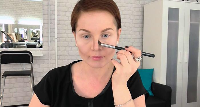 макияж для уменьшения лица