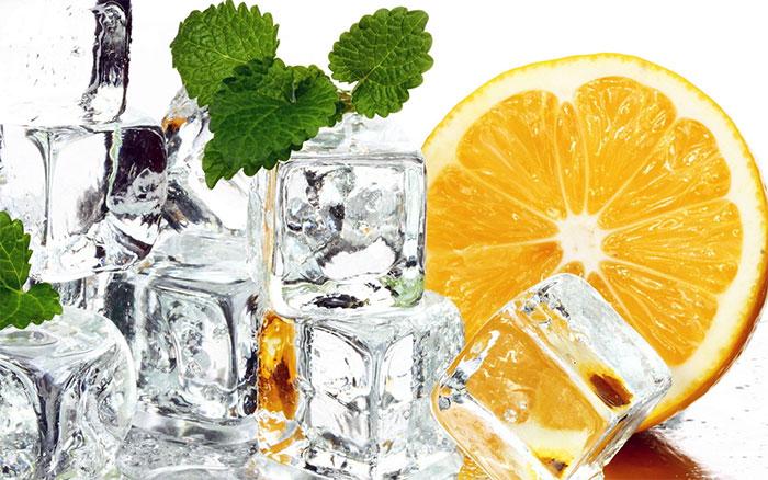 лед с мятой и цитрусом