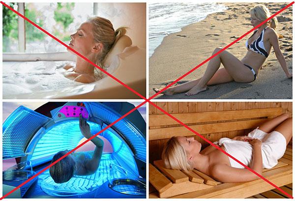 Запрет на тепловые процедуры после удаления матки