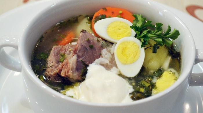 щавельный суп с говядиной
