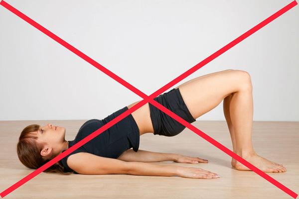 Запрет на упражнения для брюшного пресса при кисте