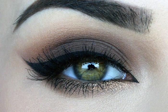 молочно-шоколадные цвета для зеленых глаз