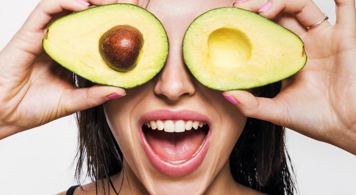 авокадо вокруг глаз