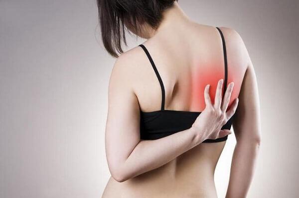пример вашего боль за правой лопаткой сзади со спины этом