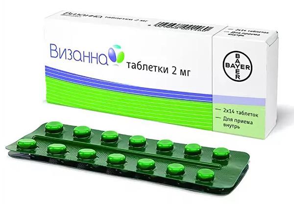 Визанна выпускается в таблетированной форме