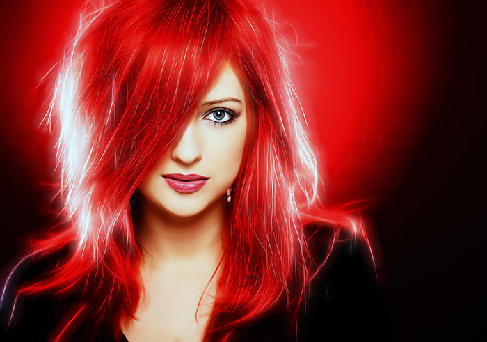 красный волос