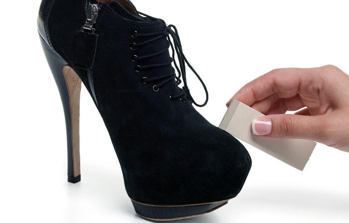 чистка туфлей