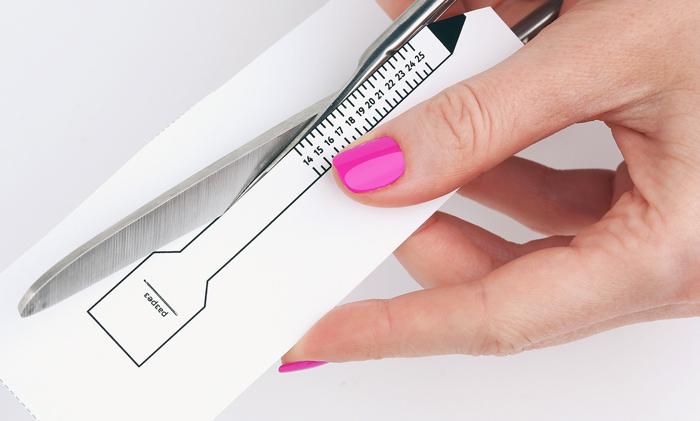 узнать размер пальца с помощью мерилки