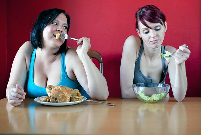 две женщины диета